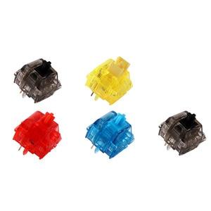Image 5 - Gateron Ink v2 Switches transparent smokey housing blue yellow red black silent black Mechanical keyboard custom switch 5pin