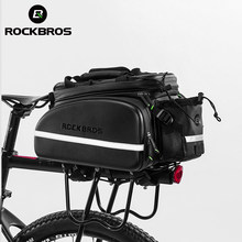 Rockbros bolsa de assento de bicicleta, mochila traseira para ciclismo, mtb, bolsa para ciclismo, pacote de grande capacidade, acessórios de bicicleta