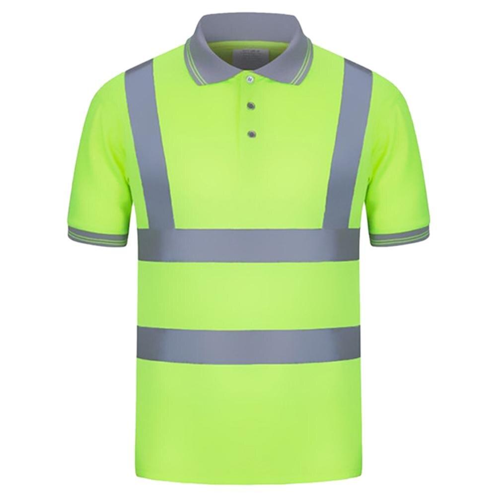 2019 Hommes Dété Polyester Réfléchissant de Sécurité Haute Visibilité À Manches Courtes t-shirts hauts Punk CoolStreetwear Extérieure Coupe-Vent Cadeau