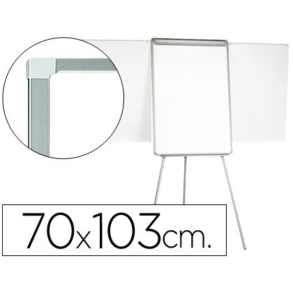 SLATE WHITE Q-CONNECT WITH TRIPODE 90X70X195CM AND ARMS EXTENDABLE FOR LECTURES SURFACE LAMINATED