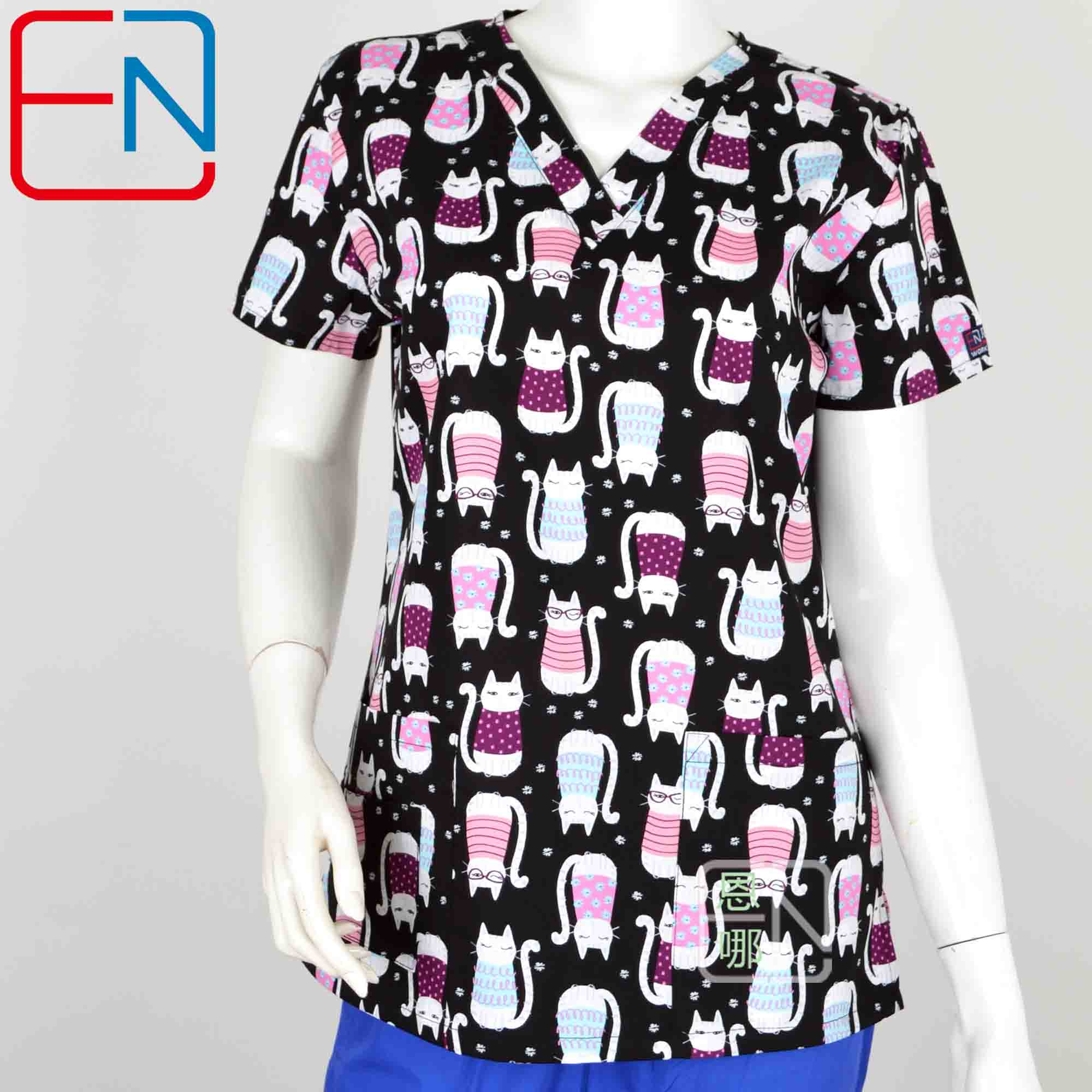 Women Scrub Top M Clearance