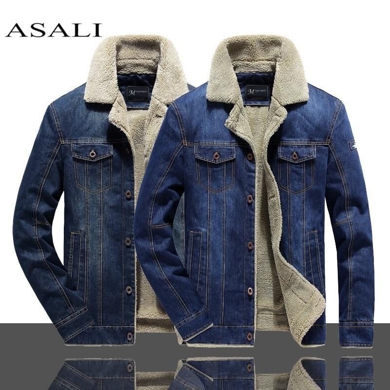 2020 Men Winter Warm Denim Jacket Fleece Thick Add Wool Casual Jacket Coat  Liner Mens Jackets Brand Jeans Coats Male Clothing|Jackets| - AliExpress