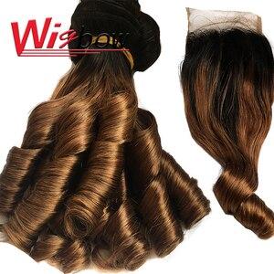 Бразильпряди Омбре, пупряди свободных волн с застежкой, пряди человеческих волос, T1B 30 3 пряди, вьющиеся волосы для наращивания