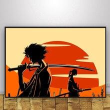 Clássico samurai champloo cartazes e impressões pintura em tela poster vintage decoração para casa decoração