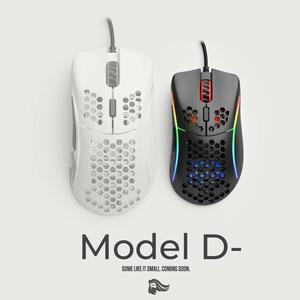 Image 1 - Mouse Glorious Gaming Model D Minus (Small) White Matte (Branco Fosco)   Model D minus Matte Black (Preto Fosco)