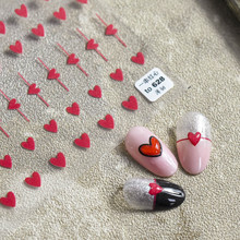 Tomoni is Japanese-style stickers 5d nail stickers a bunch of red hearts thin and tough 628 ink hot glue Nail Art Sticker