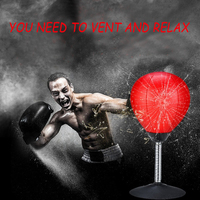 Desktop Boxing Bonus Ball PU Leather Adult Decompression Artifact Office Stress Relief Small Suction Cup Training Equipment