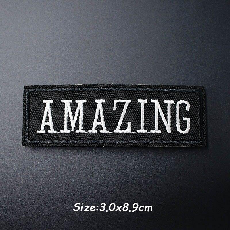 Черно-белая ткань для экспрессии Mend украшает утюжок на патч одежда шитье украшения аппликация вышивать на пачках для одежды - Цвет: F