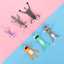 Animal Bookmarks School-Stationery Gift Pvc-Material Funny Cute Cat Children 3D Stereo
