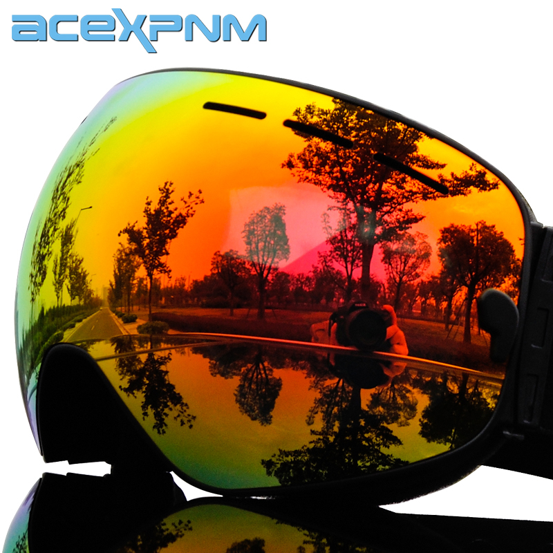 2019 Brand Ski Goggles Full Mirror UV400 Anti-fog Big Ski Mask Glasses Skiing Men Women Snow Snowboard Goggles 3 Lens