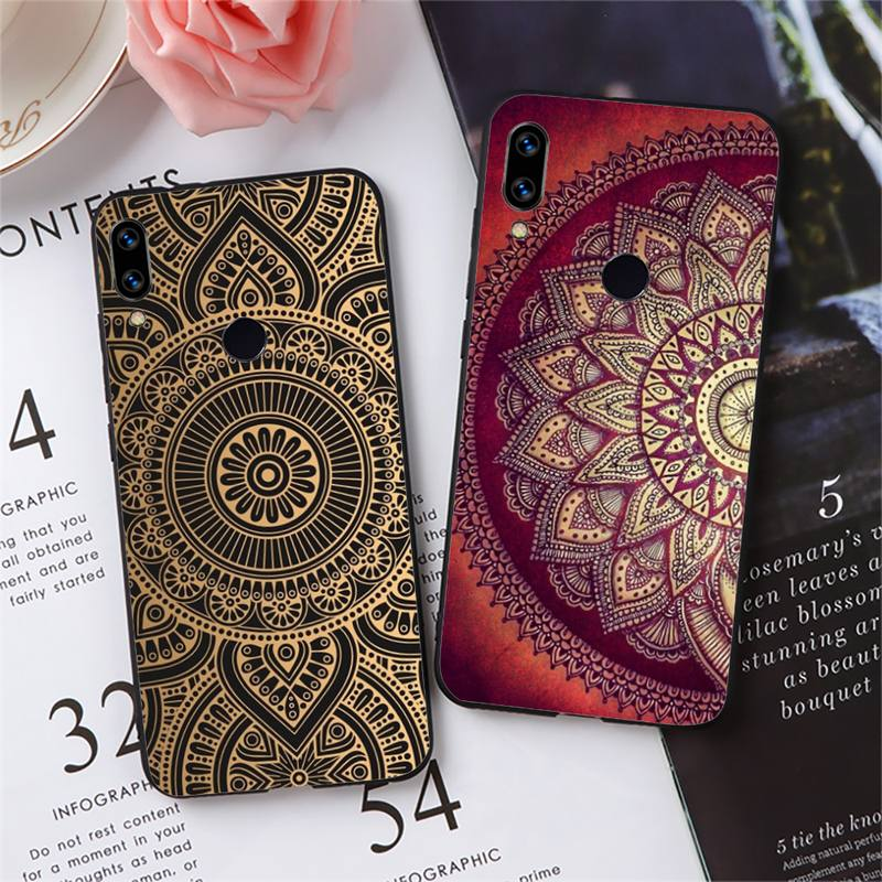 Mandala flower totem Phone Case For Xiaomi Redmi 7 8 9t a3Pro 9se k20 mi8 max3 lite 9 note 9s 10 pro