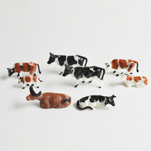 1/87 HO Scale 3 Types Model Painted Black And Brown Farm Cows For Diorama Miniature Work Landscape Making
