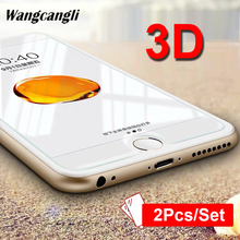 2PCS/SET 3D full screen tempered glass protective film for iPhone 7Plus 8Plus HD protector transparent hard
