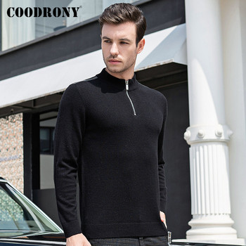 COODRONY Brand Turtleneck Men Zipper Stand Collar Pull Homme Autumn Winter Thick Warm 100% Merino Wool Sweater Men Jersey C3006 coodrony brand sweater men zipper turtleneck cardigan men clothing autumn winter thick warm 100% merino wool sweater coat p3026