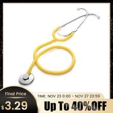 ProfessionalหูฟังSingle Head Cardiology Stethoscope Doctorแบบพกพาอุปกรณ์การแพทย์นักเรียนแพทย์Vetพยาบาลอุปกรณ์