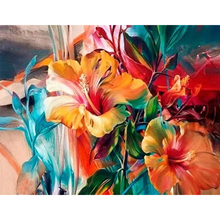GATYZTORY 40x50cm Frame Painting By Numbers For Adults Color Flower Oil Picture HandPainted Diy On Canvas Home Wall Art