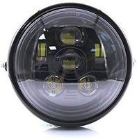 Motorcycle 7'' Universal Driving Head Light Lamp Cafe Racer Bobber 6LED Light Touring Chopper