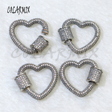 5pcs, crystal clasp. Screw clasp,jewelry accessories,clasp pendants for necklace Ancient silver color accessories 50033