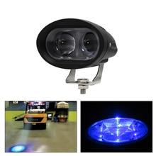 1 Or 2PCS 4 Inch 12-80V IP67 20W Blue LED Forklift Safety Light Warehouse Warning Danger Ligth lamp