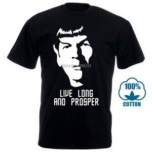 Футболка с надписью «Spock Star Treks Nimoy Live Long And Prosper», футболка «Nerd»