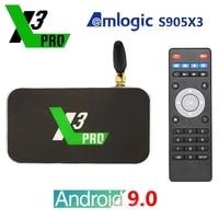 Original ugoos x3 pro x3 cubo 4gb ddr4 32gb amlogic s905x3 android 9.0 smart tv box 2.4g 5g wifi 1000mbps 4k media player