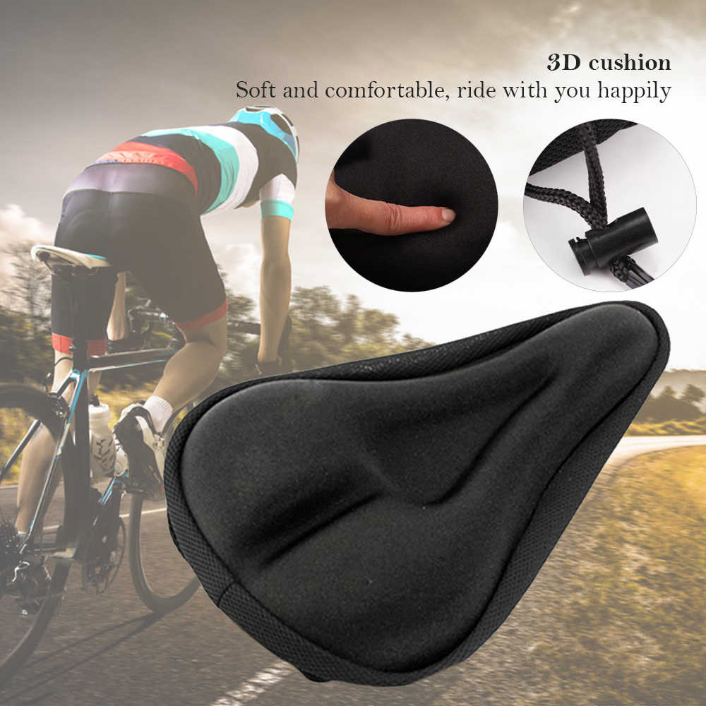 3D Soft Thickened Bicycle Seat Saddle Mountain Bike Cycling Pad Cushion Cover