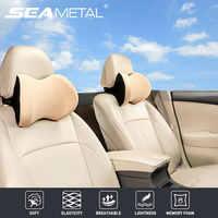 Almohada para el cuello y la cabeza del coche con correa ajustable, asiento de coche, suave y equilibrado, almohadas de viaje de espuma viscoelástica, reposacabezas para aliviar el dolor de cuello