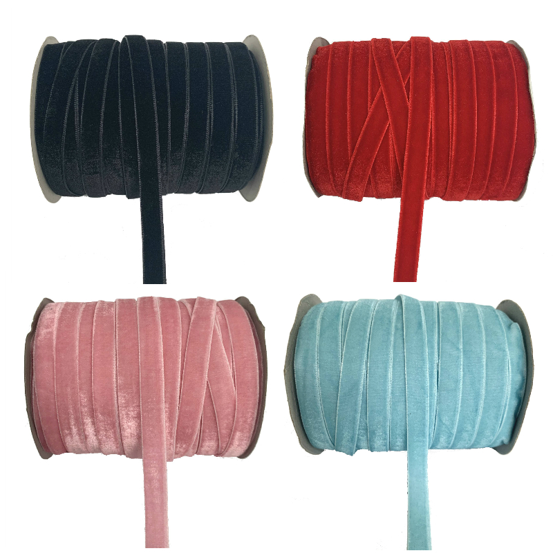 Бархатная лента, 50 ярдов, 3/8 дюйма (10 мм), украшение для свадебной вечеринки, лента ручной работы, для упаковки подарков, бантов для волос, «сде...