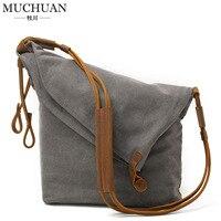 Muchuan Women's Canvas Handbag Shoulder Bag Retro Literature And Art Cloth Bag Trend Men And Women Canvas Bag