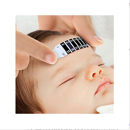 Thermometer Sticker For Baby Kids Infant Baby Fever Forehead Strip Head Temperature Test Thermometer StickerHandkerchiefs