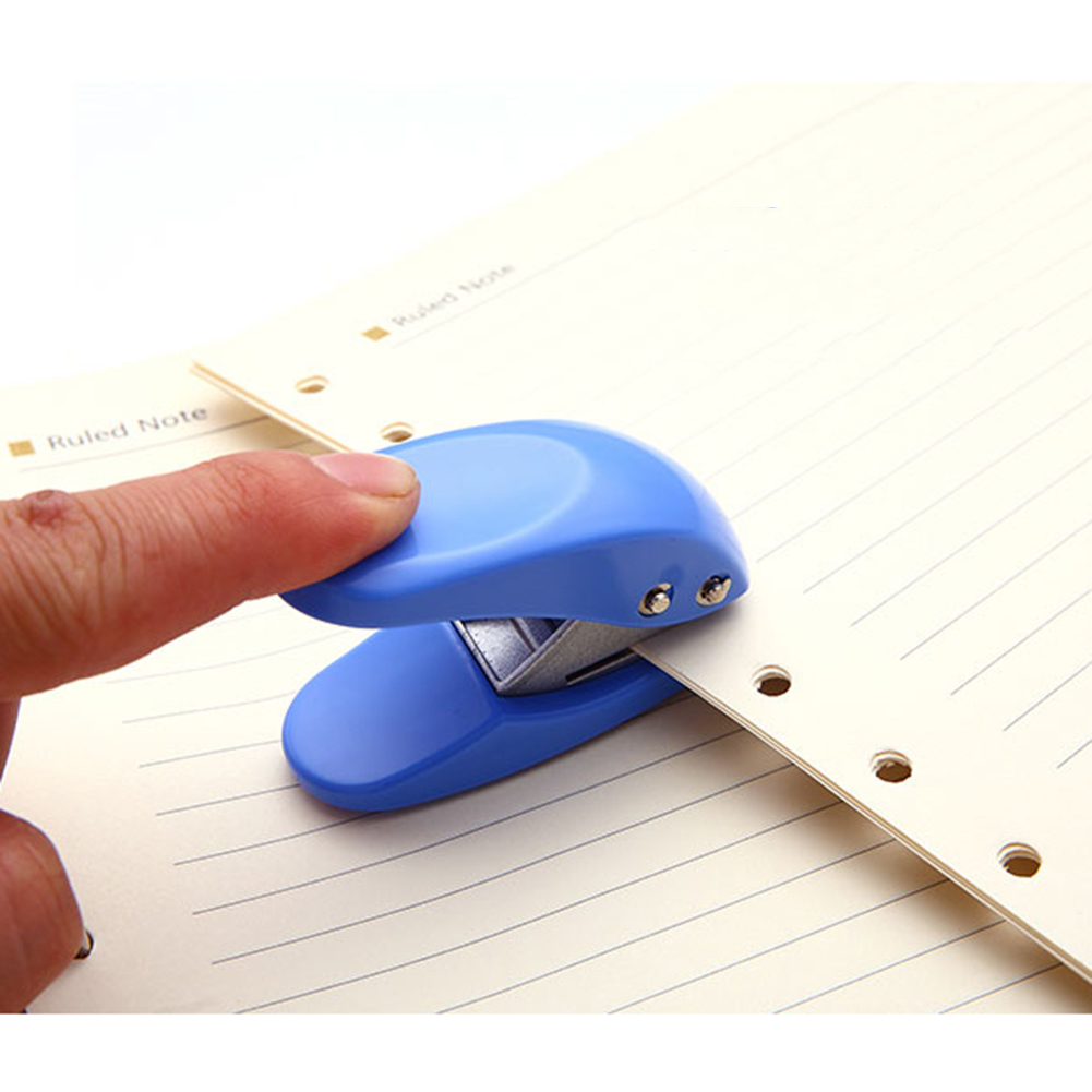 Stapler Paper Punch Craft Tool Notebook DIY Necessary Accessory Scrapbook Hole Punch Hole Puncher For Office School Home Hot