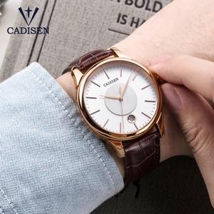 Image 5 - CADISEN 2019 יוקרה גברים של אוטומטי שעון עור מכאני שעון צבאי עסקי פנאי עסקים עמיד למים לוח שנה גברי