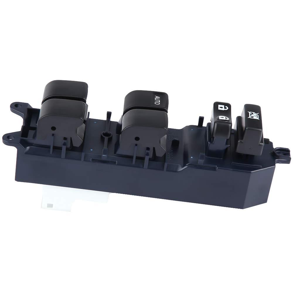 Left Front Driver Side Master Window Switch Replacement For Toyota Yaris Camry Tacoma 2007-2015 84820-52250 ABS Plastic Black