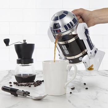 Ekspres do kawy ekspres do kawy instrukcja maszyna Robot agd Mini ekspres do kawy ekspres do kawy garnek do kawy mokka Star wars tanie i dobre opinie NoEnName_Null 5-10 filiżanek Rohs ESPRESSO Kuchence ekspres do kawy Z tworzywa sztucznego Coffee Brewer Kettle R2D2robot