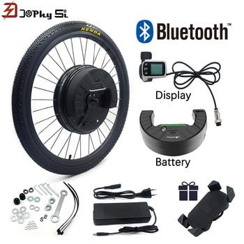 Kit de conversión de bicicleta eléctrica, rueda delantera con cambio de batería...