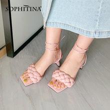 Женские Элегантные шлепанцы sophitina летние сандалии для улицы