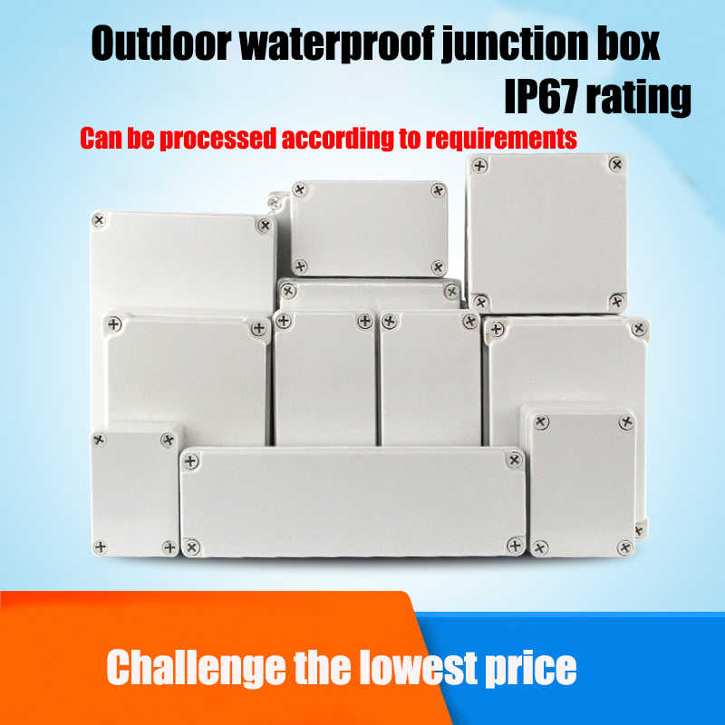 Waterdichte Plastic Behuizing Doos Elektronische Ip67 Project Instrument Case Elektrische Project Doos Abs Outdoor Junction Box Behuizing