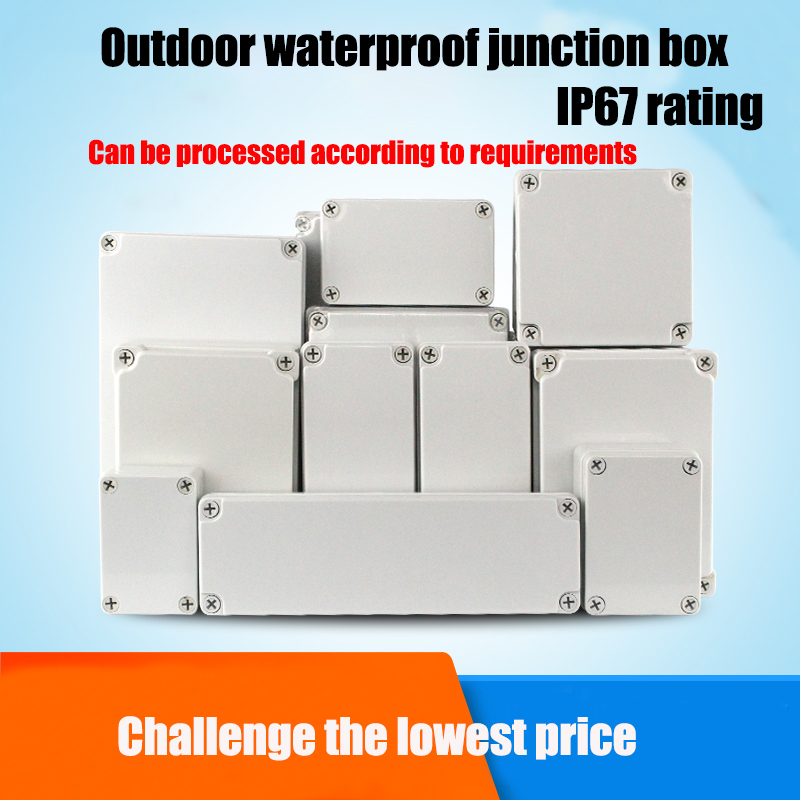 ABS Plastic Waterproof Monitoring Power Box IP67 Outdoor Junction Box Rainproof Seal Button Box DIY Connections Electrical Box