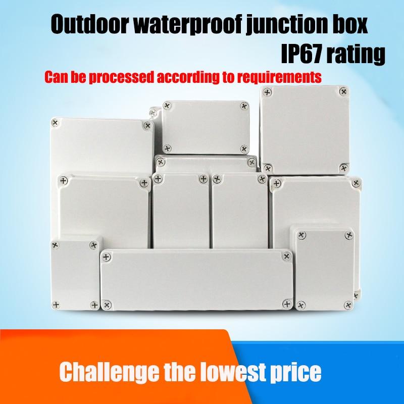 Abs Plastic Waterdichte Monitoring Power Box IP67 Outdoor Junction Box Regendicht Seal Knop Doos Diy Verbindingen Elektrische Doos