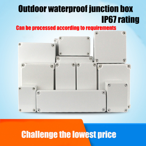Waterproof Plastic Enclosure Box Electronic ip67 Project Instrument Case Electrical Project Box ABS Outdoor Junction Box Housing(China)