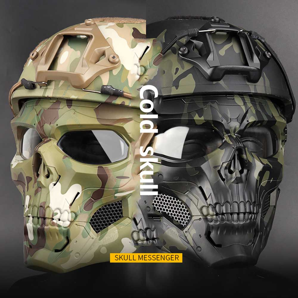 2019 New WST Skull Tactical Mask Halloween Party Games Face Mask For FAST Dress Up Party For Airsoft Outdoor Activity Hat Gift