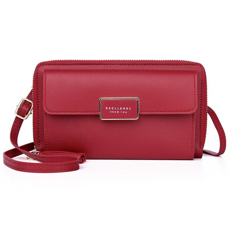 Новый Для женщин Сумки женский большой Ёмкость сумки на плечо леди накладка на молнии кошелек 6,5 дюймов телефон ремешок для кошелька клатч п...