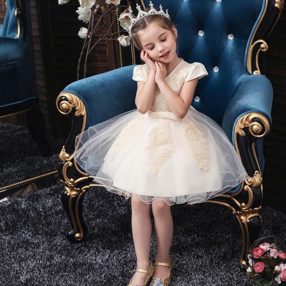 Hot Selling Princess Dress Small CHILDREN'S A Year Of Age Wash Formal Dress Handmade Bead Gauze Tutu Baby Dress