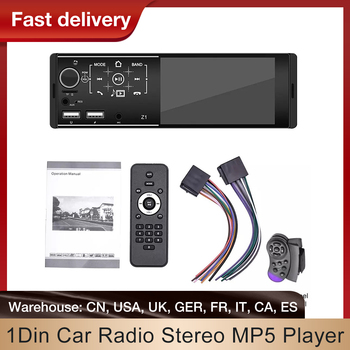 1Din Car Radio Stereo MP5 Player Multimedia Player Support USB AUX FM BT Steering Wheel Remote Control With Reverse Camera image