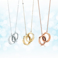 Sterling silver 925 classic popular original fashion round charm ladies necklace jewelry holiday gift