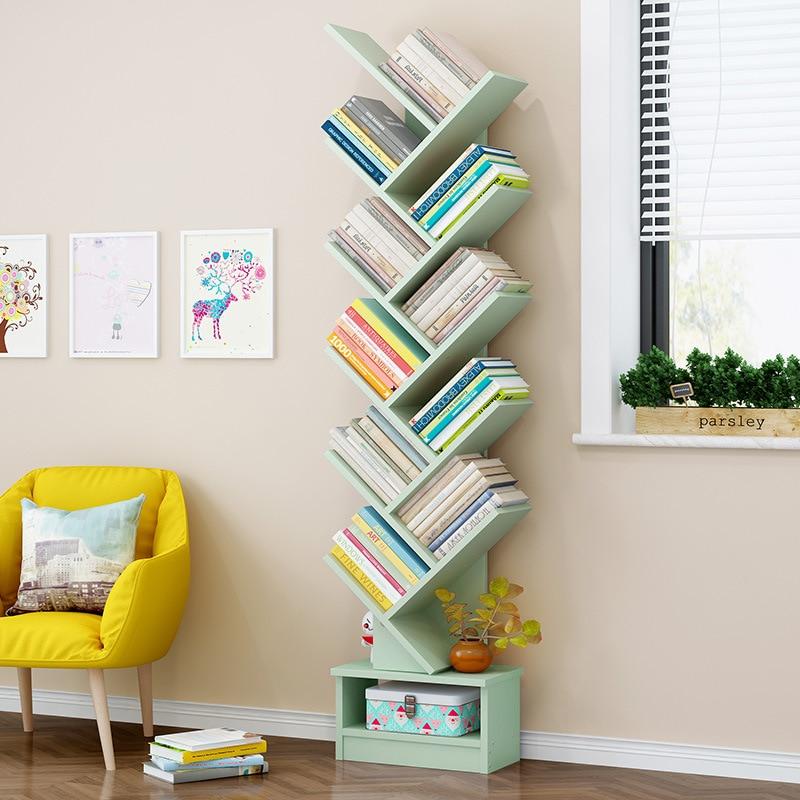 Bookshelf Floor Minimalist Modern Storage Shelf Bookcase Floor Bookshelf Small Bookcase Creative Multi-functional Simplicity She