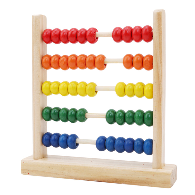 Educational Toy Mini Wooden Abacus Children Early Math Learning Toy Numbers Counting Calculating Beads Abacus Montessori(China)