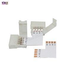 10 комплектов L-образный светодиодный разъем 2 pin/3 pin/4 pin/5pin без пайки для 8 мм/10 мм/12 мм 5050/ws2811/ws2812b RGB/ RGBW/ WW SMD Светодиодная лента
