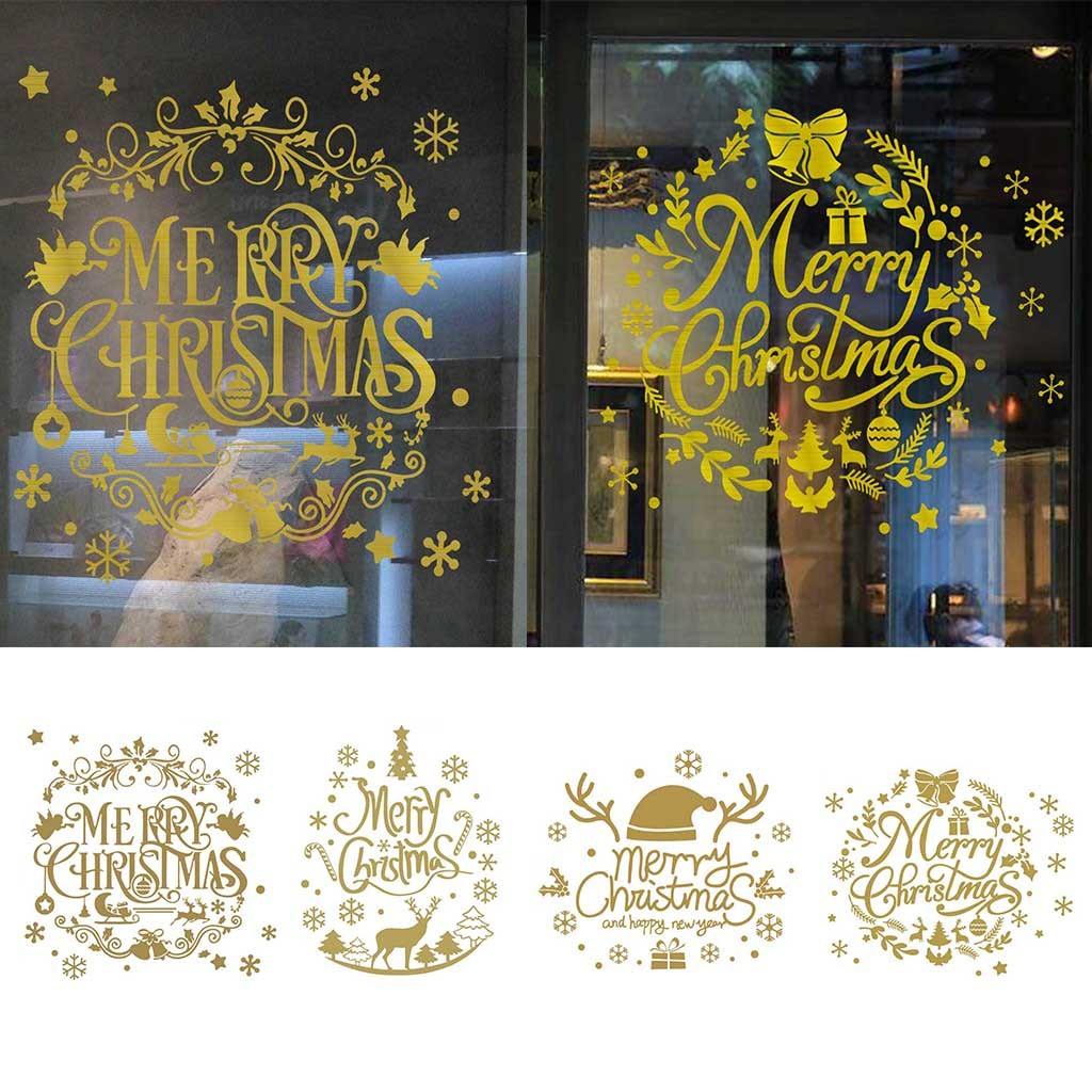 Permalink to stickers christmas stickers christmas sticker on the wall  Merry Christmas Background Wall Decoration Removable Wall Stickers