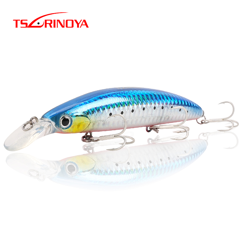 Tsurinoya Minnow Fishing Baits 110mm 20.5g Hard Baits With Treble Hook Wobblers Pesca Carp Artificial SwimBait Fishing Tackle